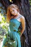 σμαραγδένια κυρία φορεμά&tau Στοκ φωτογραφία με δικαίωμα ελεύθερης χρήσης
