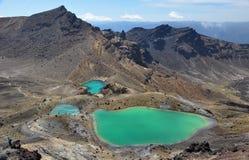 Σμαραγδένιες λίμνες Tongariro στοκ εικόνες