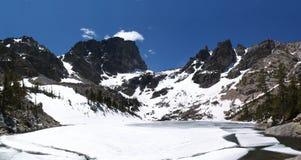 Σμαραγδένια λίμνη, χιόνι του Κολοράντο την άνοιξη Στοκ φωτογραφία με δικαίωμα ελεύθερης χρήσης