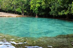 Σμαραγδένια λίμνη (Sa Morakot) σε Krabi Στοκ Φωτογραφίες