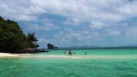 Σμαραγδένια θάλασσα στην Ταϊλάνδη απόθεμα βίντεο