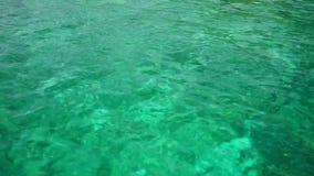 Σμαραγδένια νερά κρυστάλλου απόθεμα βίντεο