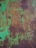 Σμαραγδένια πράσινη δραματική σύσταση σκουριάς στοκ φωτογραφίες με δικαίωμα ελεύθερης χρήσης