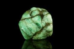 Σμαραγδένιος ορυκτός, juwelry και πολύτιμος πολύτιμος λίθος, πέτρα θεραπείας Στοκ εικόνα με δικαίωμα ελεύθερης χρήσης