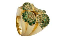 Σμαραγδένιο δαχτυλίδι Στοκ Εικόνα