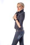 Σοβαρή γυναίκα μόδας Στοκ εικόνα με δικαίωμα ελεύθερης χρήσης