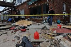 Σοβαρή ζημιά στην εν πλω πύλη κτηρίων, Νέα Υόρκη στοκ εικόνα με δικαίωμα ελεύθερης χρήσης