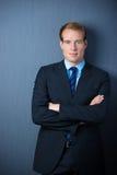 Σοβαρός βέβαιος επιχειρηματίας Στοκ φωτογραφία με δικαίωμα ελεύθερης χρήσης