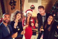 Σοβαρός εορτασμός του νέου έτους Στοκ Εικόνες