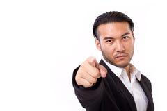 Σοβαρός επιχειρηματίας που δείχνει σε σας Στοκ εικόνα με δικαίωμα ελεύθερης χρήσης
