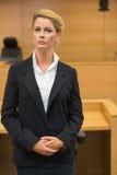 Σοβαρός δικηγόρος που εξετάζει τη κάμερα Στοκ Εικόνα