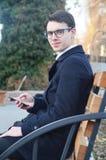 Σοβαρός και φιλόδοξος επιχειρηματίας Στοκ Εικόνες