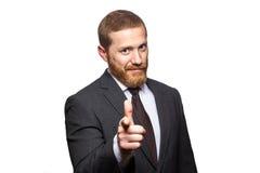 Σοβαρός όμορφος επιχειρηματίας που δείχνει το δάχτυλο σας Στοκ εικόνα με δικαίωμα ελεύθερης χρήσης
