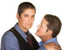 Σοβαρό ομοφυλοφιλικό ζεύγος στοκ εικόνα