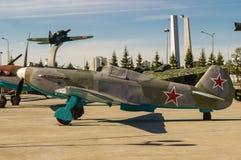 Σοβιετικά αεροσκάφη αγώνα, ένα έκθεμα του στρατιωτικός-ιστορικού μουσείου, Ekaterinburg, Ρωσία, στοκ φωτογραφία με δικαίωμα ελεύθερης χρήσης