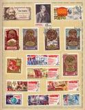 Σοβιετικά γραμματόσημα 1970 Στοκ Εικόνα