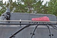 Σοβιετική ατμομηχανή ατμού φορτίου mainline της σειράς Λ το Νοέμβριο Στοκ Φωτογραφία
