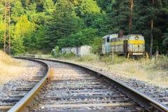 Σοβιετική ατμομηχανή diesel στο σιδηρόδρομο Στοκ φωτογραφία με δικαίωμα ελεύθερης χρήσης