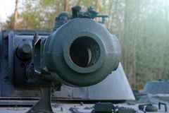 Σοβιετική κύρια δεξαμενή μάχης Δημιουργήθηκε στις αρχές της δεκαετίας του 1960 στο γραφείο Morozov σχεδίου Kharkov όπλα δεξαμενών στοκ φωτογραφία