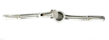 Σοβιετικός παλαιός Τύπος σκόρδου/Τύπος σκόρδου, που απομονώνεται στο λευκό Τύπο υποβάθρου/μετάλλων για το σκόρδο σε ένα άσπρο υπό Στοκ εικόνα με δικαίωμα ελεύθερης χρήσης