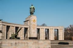 Σοβιετικός πόλεμος αναμνηστικό Tiergarten στο Βερολίνο, Γερμανία Στοκ εικόνες με δικαίωμα ελεύθερης χρήσης