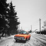 Σοβιετικό αυτοκίνητο Oldschool Στοκ Εικόνα