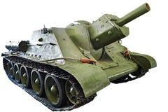 Σοβιετικό αυτοπροωθούμενο πυροβολικό SU-122 1942 δεξαμενών που απομονώνεται Στοκ Εικόνα