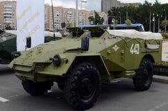 Σοβιετικό ελαφρύ τεθωρακισμένο όχημα μεταφοράς προσωπικό gaz-40B στην έκθεση του στρατιωτικού εξοπλισμού στοκ φωτογραφίες με δικαίωμα ελεύθερης χρήσης