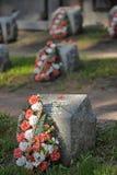 Σοβιετικό νεκροταφείο στοκ εικόνες με δικαίωμα ελεύθερης χρήσης