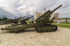 Σοβιετικό πυροβόλο όπλο αγώνα, ένα έκθεμα του στρατιωτικός-ιστορικού μουσείου, Ekaterinburg, Ρωσία, στοκ εικόνα με δικαίωμα ελεύθερης χρήσης