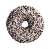 Σοκολάτα γύρω από doughnut στοκ εικόνα με δικαίωμα ελεύθερης χρήσης