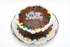 σοκολάτα κέικ γενεθλίων στοκ εικόνα