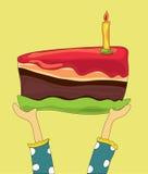 σοκολάτα κέικ γενεθλίω&n Στοκ Εικόνες