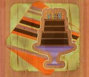 σοκολάτα κέικ γενεθλίω&n απεικόνιση αποθεμάτων