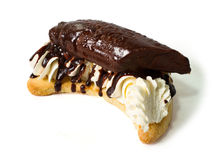 σοκολάτα κέικ μπανανών πο&ups Στοκ Εικόνα