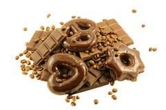 σοκολάτα κέικ ράβδων στοκ φωτογραφίες