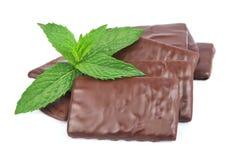 Σοκολάτα και μέντα μιγμάτων στοκ φωτογραφία με δικαίωμα ελεύθερης χρήσης