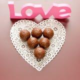 Σοκολάτα με την αγάπη. Στοκ εικόνα με δικαίωμα ελεύθερης χρήσης