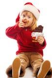 σοκολάτα που τρώει το κ&omi Στοκ εικόνες με δικαίωμα ελεύθερης χρήσης