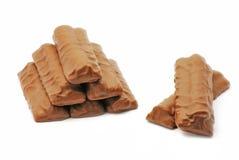 Σοκολάτα στην άσπρη ανασκόπηση Στοκ εικόνες με δικαίωμα ελεύθερης χρήσης