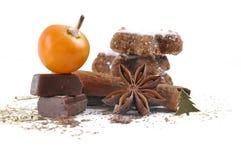 Σοκολάτα, anis, και μπισκότα κανέλας Στοκ Εικόνες