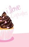 σοκολάτα cupcake απεικόνιση αποθεμάτων