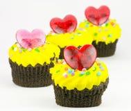 σοκολάτα cupcakes Στοκ φωτογραφίες με δικαίωμα ελεύθερης χρήσης