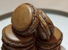 Σοκολάτα macarons Στοκ Εικόνες