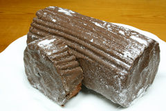 σοκολάτα yulelog Στοκ Εικόνες