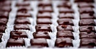 σοκολάτες κιβωτίων Εκλεκτική εστίαση Στοκ Εικόνες