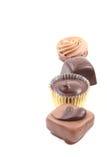 σοκολάτες μικτές στοκ φωτογραφία