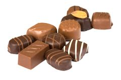σοκολάτες που απομονών& Στοκ Φωτογραφίες