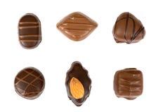 σοκολάτες που απομονών& Στοκ Εικόνα