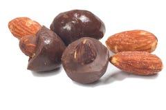 Σοκολάτα αμυγδάλων στοκ φωτογραφίες με δικαίωμα ελεύθερης χρήσης